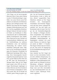 Prof. Dr. Helmut Singer Leiter der Kinderkardiologie 1987-2007