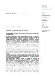 Protokoll der Gründungssitzung der AG Prävention - DGPK ...