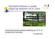 Psychische Faktoren und soziale Folgen bei Patienten mit Morbus ...