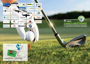 Flyer Lions Charity-Golfturnier - Kinderkrebshilfe Schweiz