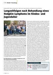 Langzeitfolgen nach Behandlung eines Hodgkin-Lymphoms im ...
