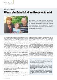 Wenn ein Enkelkind an Krebs erkrankt - Kinderkrebsstiftung