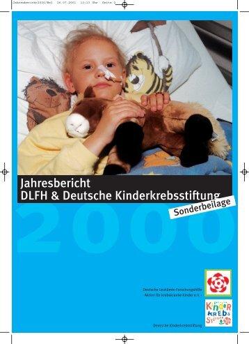 Jahresbericht 2005 - Kinderkrebsstiftung