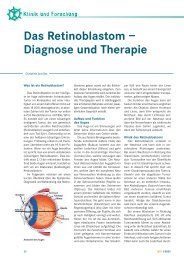 Das Retinoblastom – Diagnose und Therapie - Kinderkrebsstiftung