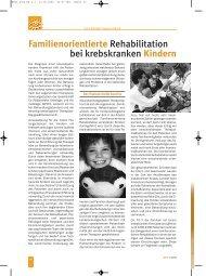 Familienorientierte Rehabilitation bei krebskranken Kindern