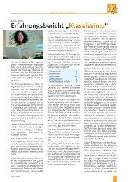 "Erfahrungsbericht ""Klassissimo"" - Kinderkrebsstiftung"