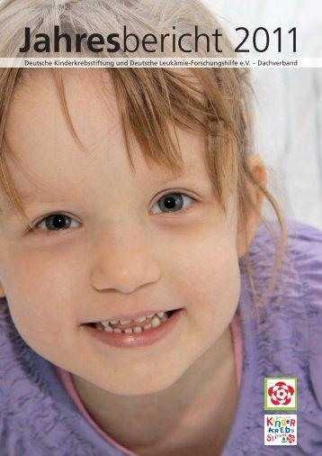Jahresbericht 2011 - Kinderkrebsstiftung