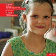 Jubiläumsschrift 2005 - Kinderkrebsstiftung
