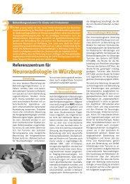 Referenzzentrum für Neuroradiologie in Würzburg