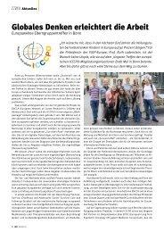 Globales Denken erleichtert die Arbeit - Kinderkrebsstiftung