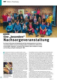 Seminar für Menschen mit Umkehrplastik - Kinderkrebsstiftung