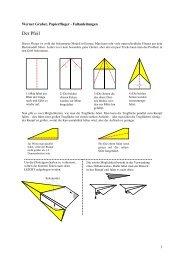 Faltanleitungen Papierflieger (PDF, 48 KB)