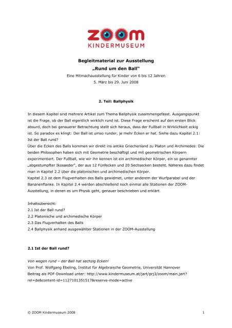 Ballphysik (PDF, 719 KB) - ZOOM Kindermuseum