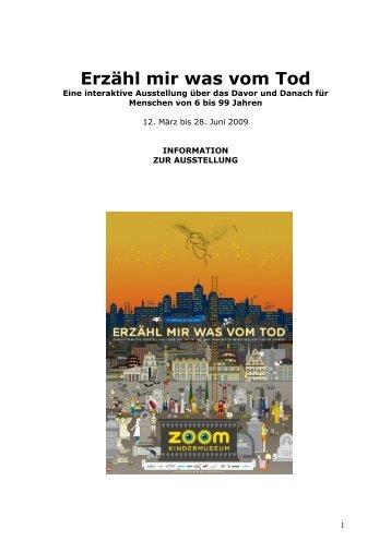 Information für PädagogInnen (PDF, 658 KB) - ZOOM Kindermuseum