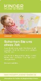Flyer Ehrenamt - Kinder Pflege Netzwerk