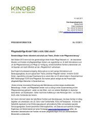 Presseinfo (PDF) - Kinder Pflege Netzwerk