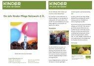 ersten Vereinsjahr - Kinder Pflege Netzwerk
