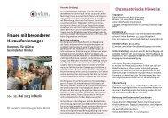 Frauen mit besonderen Herausforderungen - FamilienBande