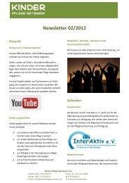 unser Newsletter 02/2012 - Kinder Pflege Netzwerk
