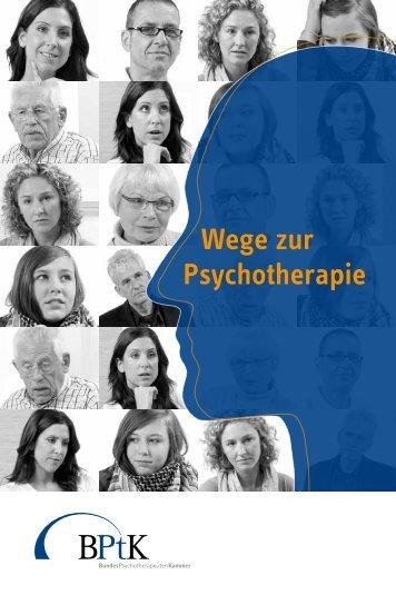 """Broschüre """"Wege zur Psychotherapie"""" - Ambulanz"""