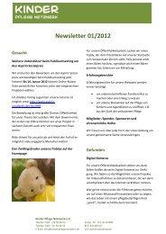 unser Newsletter 01/2012 - Kinder Pflege Netzwerk