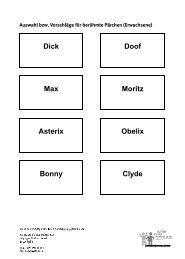 Dick Doof Max Moritz Asterix Obelix Bonny Clyde