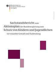 Sachstandsbericht zum Aktionsplan der Bundesregierung zum ...