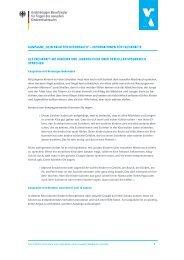 Gesprächstipps für Fachkräfte - Kein Raum für Missbrauch