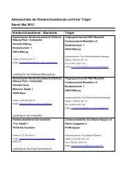 Adressliste der Kinderschutzdienste und ihrer Träger - Kinderrechte ...