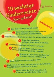 10 wichtige Kinderrechte - Kinderrechte Rheinland-Pfalz