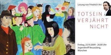 Einladung zur Lesung von Friedrich Ani - Kinder lesen und ...