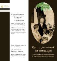 Erster Janusz-Korczak-Schreibwettbewerb für bayerische Schüler ...