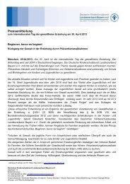 Pressemitteilung - Deutscher Kinderschutzbund Landesverband ...