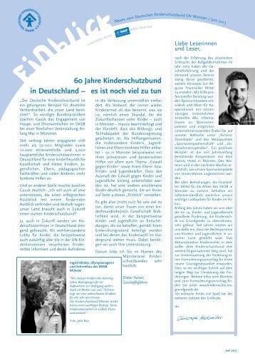 Einblick Juni 2013 - Kinderschutzbund