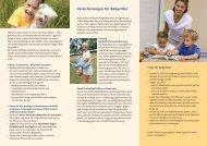 Handzettel Versicherungen für Babysitter