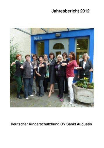 Jahresbericht 2012 (5 MB) - Kinderschutzbund Sankt Augustin