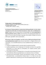 Zur Stellungnahme - Deutscher Kinderschutzbund Landesverband ...