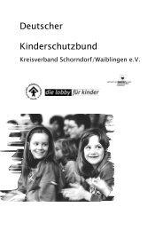 Jahresbericht 2005 - Deutscher Kinderschutzbund Schorndorf ...