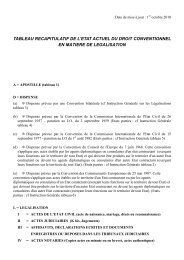 tableau des légalisations - Consulat général de France à Zurich