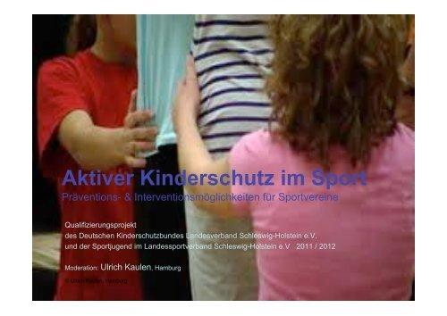 Die Präsentation des Projektes - Deutscher Kinderschutzbund ...