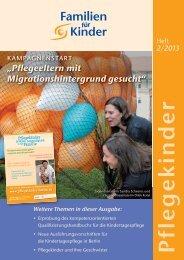 Pflegekinder-Heft 2/2013 als PDF-Dokument - Kindertagespflege
