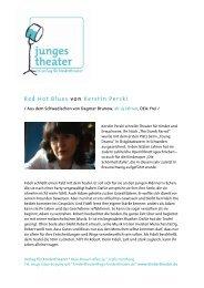 Red Hot Blues von Kerstin Perski - Verlag für Kindertheater