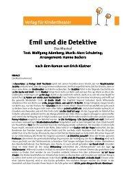 Emil und die Detektive - Verlag für Kindertheater