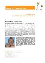 Kirsten Boie: Kerle m ieten - Verlag für Kindertheater