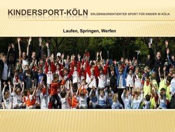 Kindersport-Koeln. Präsentation 02 - Kindersport Köln