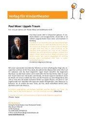 Paul Maar: Lippels Traum - Verlag für Kindertheater