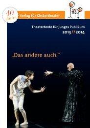Kinderstücke von A bis Z - Verlag für Kindertheater
