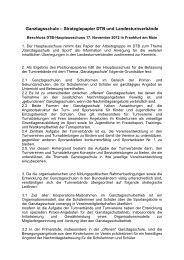 Beschlussfassung des Hauptausschusses