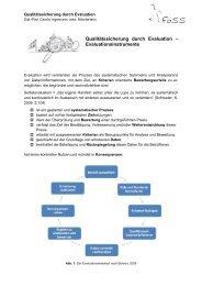 Qualitätssicherung durch Evaluation Evaluationsinstrumente ng ...