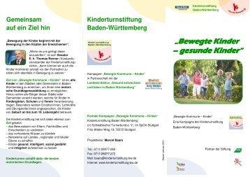 Bewegte Kinder Bewegte Kinder – gesunde Kinder gesunde Kinder ...